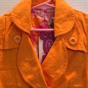 BEETLE JUICE LONDON NEW TAGS ORANGE Lined jacket 5